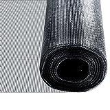 casa pura® Fliegengitter für Fenster und Türen | Zuverlässiger Insektenschutz aus Fiberglas mit Vinyl-Beschichtung | Farbe schwarz | in 2 Längen und 4 Breiten verfügbar (3m x 0,8m)