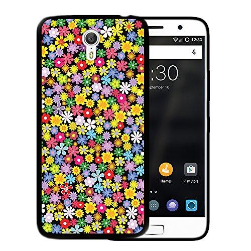 WoowCase Lenovo ZUK Z1 Hülle, Handyhülle Silikon für [ Lenovo ZUK Z1 ] Blumen Handytasche Handy Cover Case Schutzhülle Flexible TPU - Schwarz