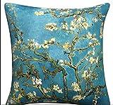 Elviros Ölgemälde Dekorativ Baumwoll Leinen Mix Kissenbezug 45 x 45cm-Almond Blossom