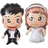 RepairMedia-Shop, palloncini gonfiabili, misura XXL, a forma di sposo e di sposa, adatti per il matrimonio, dimensioni di 77