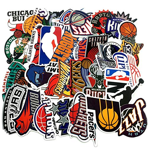yunkanda 30 Teil / Los Marke Basketball NBA Logo Aufkleber Für Gepäck Koffer Skateboard Motor Auto wasserdichte Aufkleber Kühlen