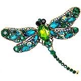Cosanter 1x Dragonfly Brooch Broche de Diamantes de Cristal Animal Broche de Mujer Accesorios de Moda Broches Libelula