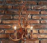 Tinsinss Wandlampe für Bett, Retro, Schaufensterdekoration, für Schlafzimmer/Bettdecke, Standard-Räume, Lampenstange für den Flur, Ingenieurläufer, Wandleuchte, Retro-Stil, Antik-Look - -
