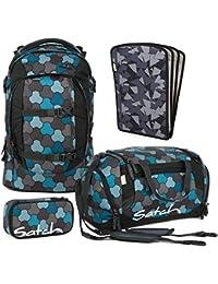 f5a57b6117749 Satch PACK Ocean Flow 4er Set Schulrucksack + Schlamperbox + Sporttasche…