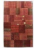 Pak Persian Rugs Handgeknüpfter Flicken Teppich, Mehrfarbig, Wolle, Medium, 167 X 268 cm