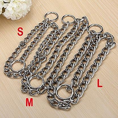 Kungfu Mall Pet Strong Steel Metal Training Pet Choker Chain Collar (L) 5