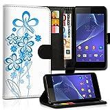 Book Style Alcatel One Touch Go Play 7048X Premium PU-Leder Tasche Flip Brieftasche Handy Hülle Kartenfächer mit Standfunktion für Alcatel One Touch Go Play 7048X - Design Flip MVX82