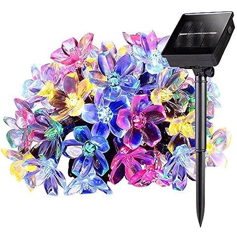Guirlande lumineuse extérieure à LED Patio Arbre Fenêtre 50fleurs Marron 7m Multicolore