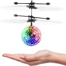 RC Fliegender Ball mit Fernbedienung, Vivibel Infrarot-Induktions-Hubschrauber, USB Aufladenhubschrauber, Drohne mit bunt leuchtendem LED-Licht, Hand Sensing Suspension Spielzeug für Kinder, Jugendliche und Erwachsene, Indoor-und Outdoor-Spiele