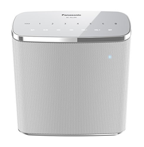 Panasonic SC-ALL05EG-W Wireless (wasserfest, Multiroom, WiFi, Bluetooth, Musik-Streaming) weiß (Bluetooth Dusche Lautsprecher Stereo)