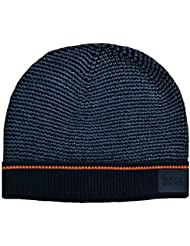 Hugo Boss Kids Black And Grey Knitted Hat