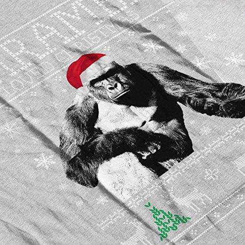 Harambe Loved Christmas Knit Men's Vest Heather Grey