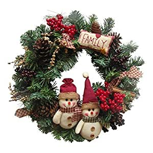 Enchante ghirlanda natalizia artigianale