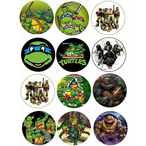 Ninja Turtles Thema Cupcake/Muffin Aufleger (Ninja-turtle-thema)