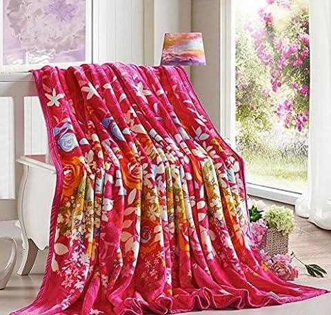 La couverture d'épaisseur Kim des raies non pelucheux cloud-couverture en polaire de climatisation et de ventilation