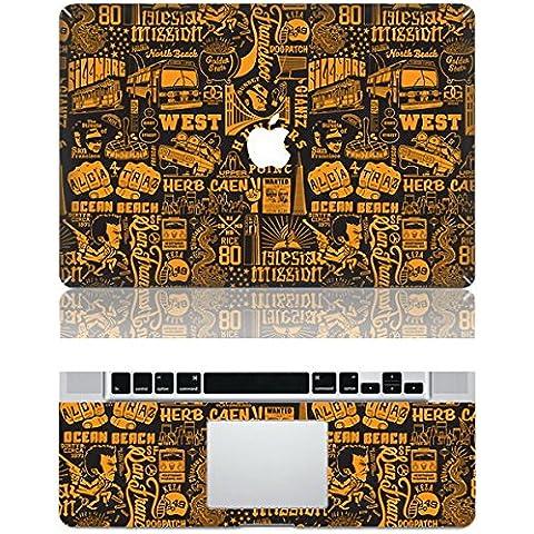Vati Foglie Parole creativi rimovibili protettiva copertura completa di arte del vinile della decalcomania della pelle Sticker Cover per Apple MacBook Pro Retina da 15,4
