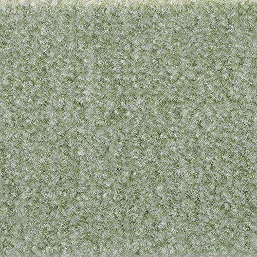 Teppichboden Auslegware | Velours gemustert | 400 und 500 cm Breite | grün mint | Meterware, verschiedene Größen | Größe: 1 Muster -