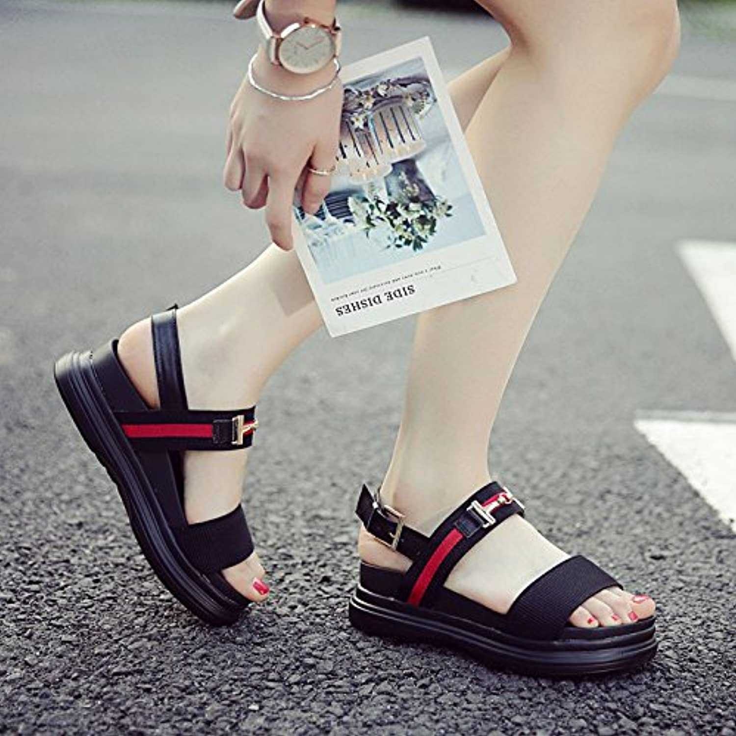 b7a1ad7487f99d SBL Summer fashion ladies sandals sandals sandals flat shoes soft bottom  buckle word sandals