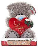 MTY Me To You 7-inch Tatty Teddy Bear Holding A Heart With Message I Love You by Me To You Bear