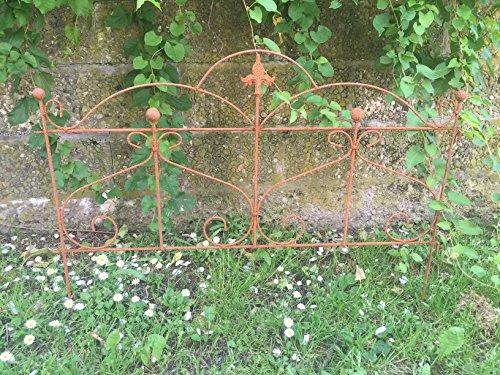 Gerry Beetzaun Gartenzaun Rankhilfe Metall Eisen Rost Deko 46cm hoch x 60cm lang Zaun Zaunelement