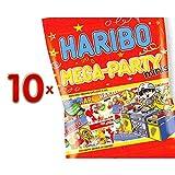 Haribo Mega Party Mini Mix Sachet 10 x 200g Packung (Fruchtgummi-Mix)