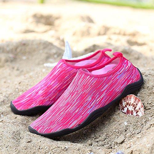 Joansam  Water Shoes,  Damen Durchgängies Plateau Sandalen mit Keilabsatz Rose