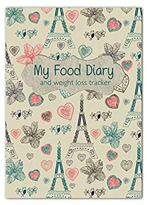 A5 Slimming Diary, Diet Diary, Food Log Journal, Slimming Club,Fill In Your Own Text Paris from Fitness & Wellbeing