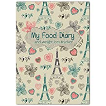 A5 Slimming Diary, Diet Diary, Food Log Journal, Slimming Club,Fill In Your Own Text Paris