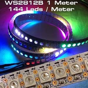 1 M 144 leds wS2812B bande stripe blanc avec contrôleur wS2811