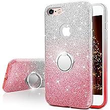 Funda iPhone 6S Plus, Funda iPhone 6 Plus, Miss Arts Carcasa Brillante Brillo con soporte, cubierta exterior de TPU suave + armazón interior de PC duro para Apple iPhone 6S / 6 Plus -Rosado