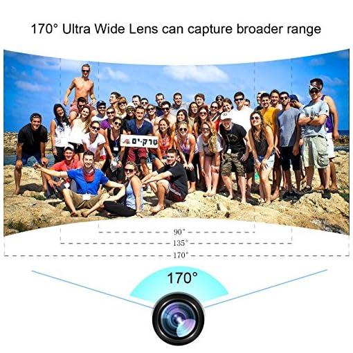 4K Action Camera, Bopower Camera WIFI Sport 60fps Impermeabile Anti-scuotimento con Telecomando Remoto 2.4G, Schermo da 2.0 pollici Full HD, Grandangolo da 170 gradi, 2 Batterie da 1050mAh, con tanti accessori