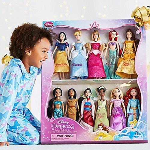 Disney Exklusives Princess Classic Puppen Collection - 30cm - (11 Dolls:Snow White, Cinderella, Aurora, Ariel, Belle, Jasmine, Pocahontas, Mulan, Tiana, Rapunzel, and Merida)