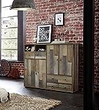 lifestyle4living Schuhschrank, Schuhkommode, Schuhregal, Garderobenmöbel, Dielenmöbel, Garderobe, Flurmöbel, Driftwood, Treibholz, Vintage