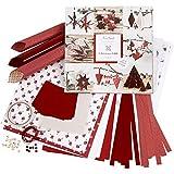 Set di materiale da intrecciare e piegare, bianco, rosso, Copenhagen, 1set