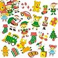 Adesivi in schiuma Laboratorio di Babbo Natale per bambini (confezione da 100)
