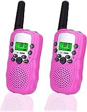 Happy Gift Toys for 3-12 Year Old Boys, Walkie Talkies Kids Girls,1Pair(Pink)