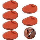 6 Stks Rubber Meubilair Caster Cups, AIFUDA Meubelonderzetters Anti-Sliding Floor Grip Vloerbeschermers voor Alle Vloeren & W