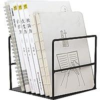 INDIAN DECOR 38730 Freestanding Desktop Metal Bookend, Metal Mini Bookshelf, File and Magazine Storage Organizer for…