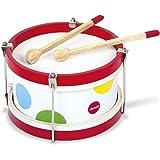 Janod - Mon Premier Tambour en Bois Confetti - Instrument de Musique Enfant - Jouet d'Imitation et d'Éveil Musical - Dès 2 An