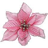 Arbre de Noëldécoration fleur de Noël garland decoration(rose,ensemble de 6)