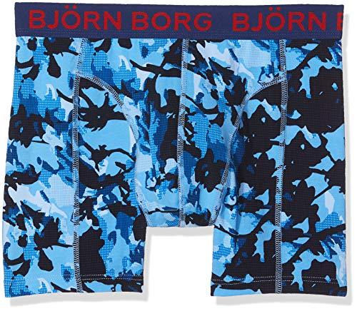 Björn Borg Herren Boxershorts Shorts BB Branch 1p, Blau (Bonnie Blue 71171), Large Bonnie Blue