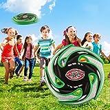 Wokee Wasserdichte Flying Disc Frisbee, Indoor Outdoor Sporting Flying Disc Runde Silikon Antenne Ring Kinder Kinder Outdoor-Spielzeug Tragbare, Sport & Fitness, Schaumstoff Wurfspiel Wurfring präziser