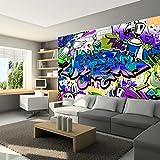 murando - Fototapete 300x210 cm - Vlies Tapete - Moderne Wanddeko - Design Tapete - Wandtapete - Wand Dekoration - Graffiti f-A-0018-a-d