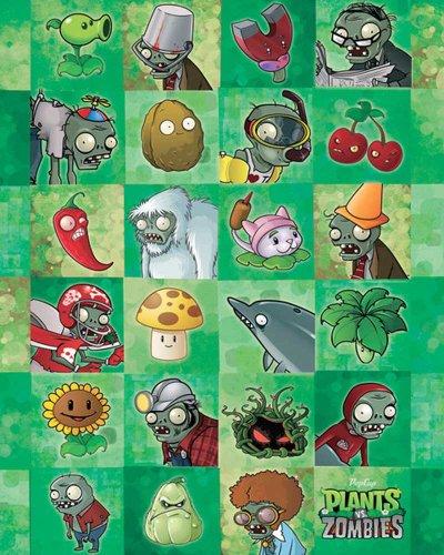 Characters Computer Spiel Mini Poster Plakat Druck - Grösse 40x50 ()