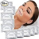 10 x Transparente Kollagen Gel Kristall Lippen Anti Aging Faltel Feuchtigkeit Masken