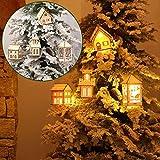Weihnachtsbeleuchtung, Morbuy 1PCS LED Bäume Holz Haus Lichterkette Warm Weiß dekoration bar hotel zuhause drinnen draußen (XMW008)