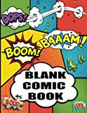 Blank Comic Book: Create Your Own Comics Variety of Templates 100 pages comic panel, 8.5 x 11 inches For drawing your own comics, idea and design sketchbook (Superhero Comics)-[Professional Binding]