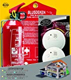 Elro BBS3 Brandschutz-Set/1 x Feuerlöschdecke und 2 x Rauchmelder mit 1 x Feuerlöscher
