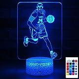 HYODREAM كوبي براينت ضوء كرة السلة هدية جانبية مصباح ليد ديكور ضوء للبالغين أو الأطفال كهدية عيد ميلاد أو عطلة