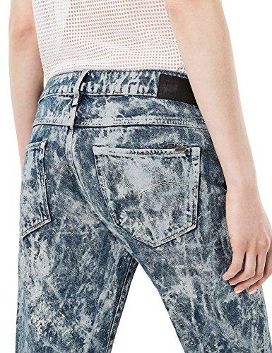 G-Star Women's Low Boyfriend Women's Cropped Jeans With Fadings 100% Cotton Blue